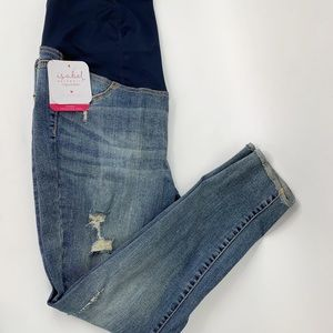Isabel Skinny Distressed Maternity Jeans size 12